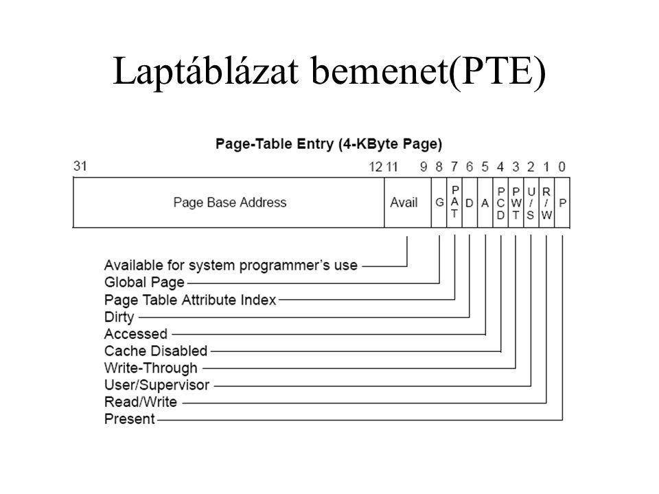 Laptáblázat bemenet(PTE)
