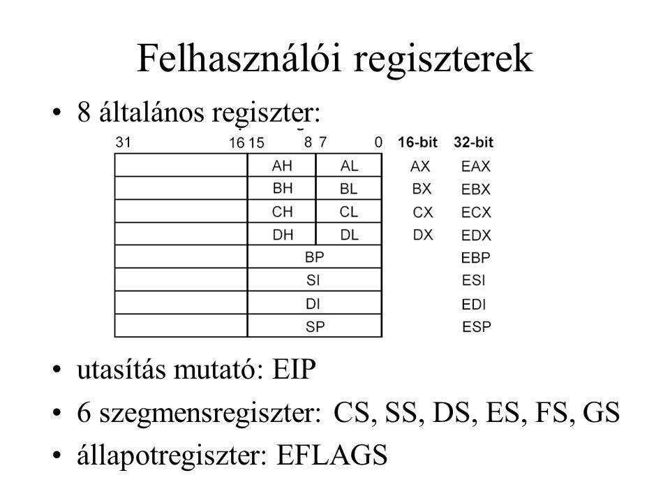 Call kapuk a kapu meghatározza az eljárás belépési pontját, a CALL utasításban levő offset nem számít amikor call kapun keresztül egy magasabb privilégiumszintű eljárást hívunk meg a CPL a meghívott szegmens privilégiumszintje lesz magasabb privilégiumszintre történő váltáskor a magasabb szintű verembe kerül: SS, ESP, (Param.