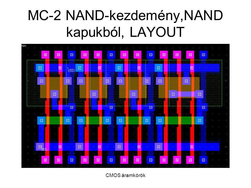 CMOS áramkörök MC-2 NAND-kezdemény,NAND kapukból, LAYOUT