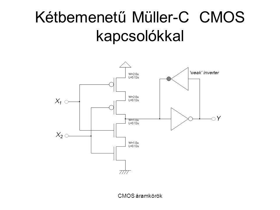 CMOS áramkörök Kétbemenetű Müller-C CMOS kapcsolókkal