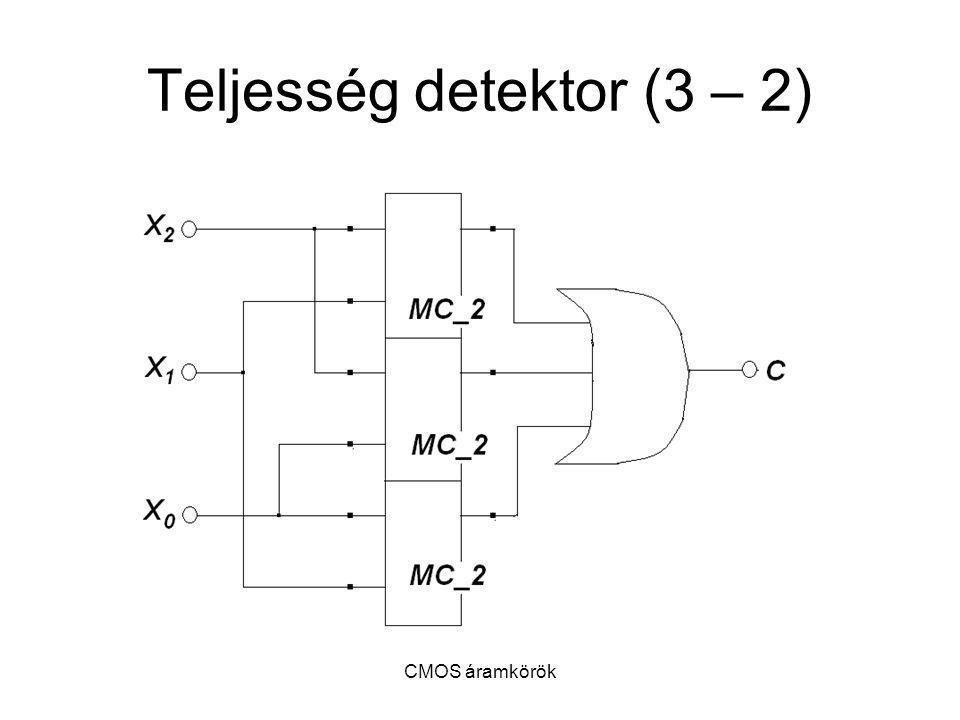 CMOS áramkörök Teljesség detektor (3 – 2)