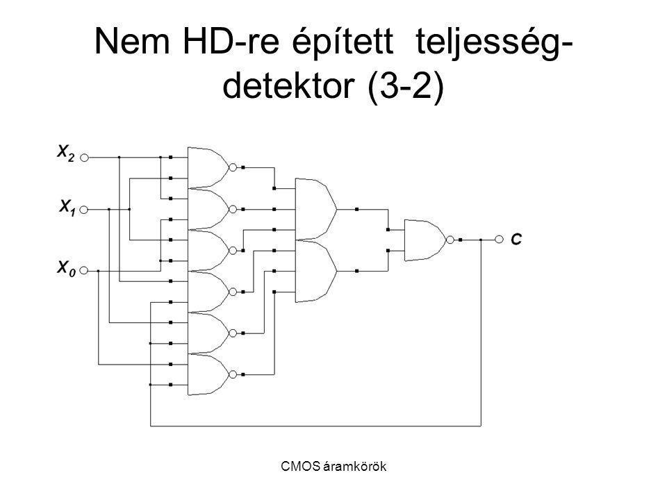 CMOS áramkörök Nem HD-re épített teljesség- detektor (3-2)