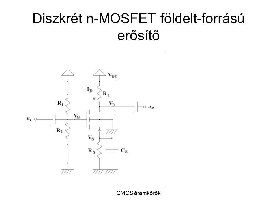 CMOS áramkörök Diszkrét n-MOSFET földelt-forrású erősítő