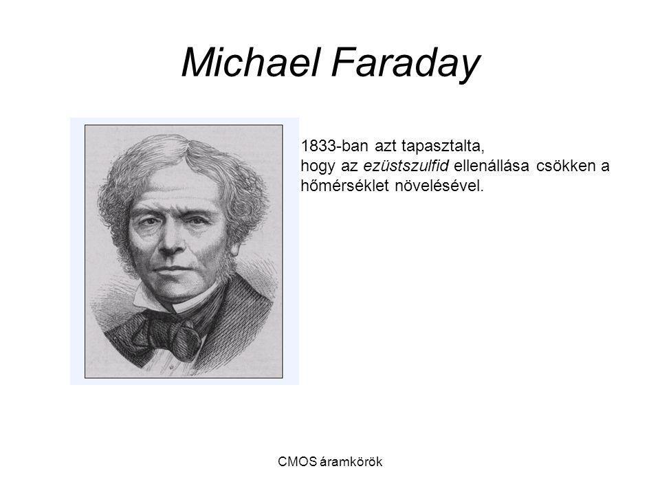CMOS áramkörök Michael Faraday 1833-ban azt tapasztalta, hogy az ezüstszulfid ellenállása csökken a hőmérséklet növelésével.