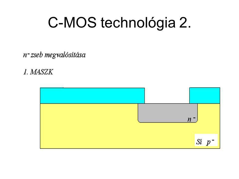 CMOS áramkörök C-MOS technológia 2.