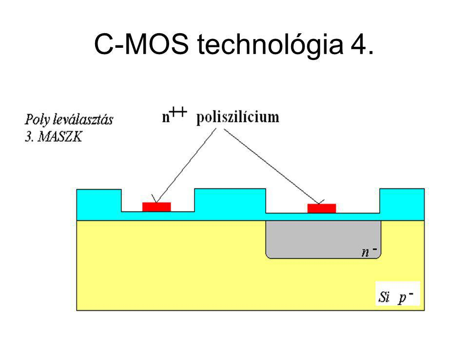CMOS áramkörök C-MOS technológia 4.