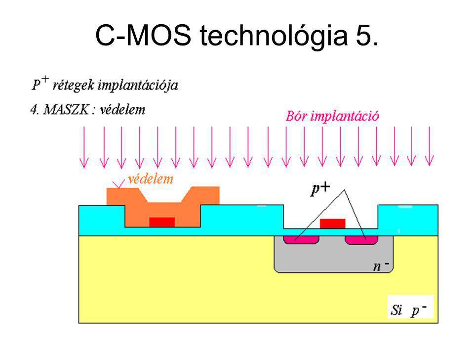 CMOS áramkörök C-MOS technológia 5.