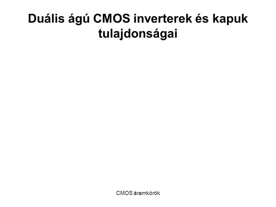 CMOS áramkörök Duális ágú CMOS inverterek és kapuk tulajdonságai