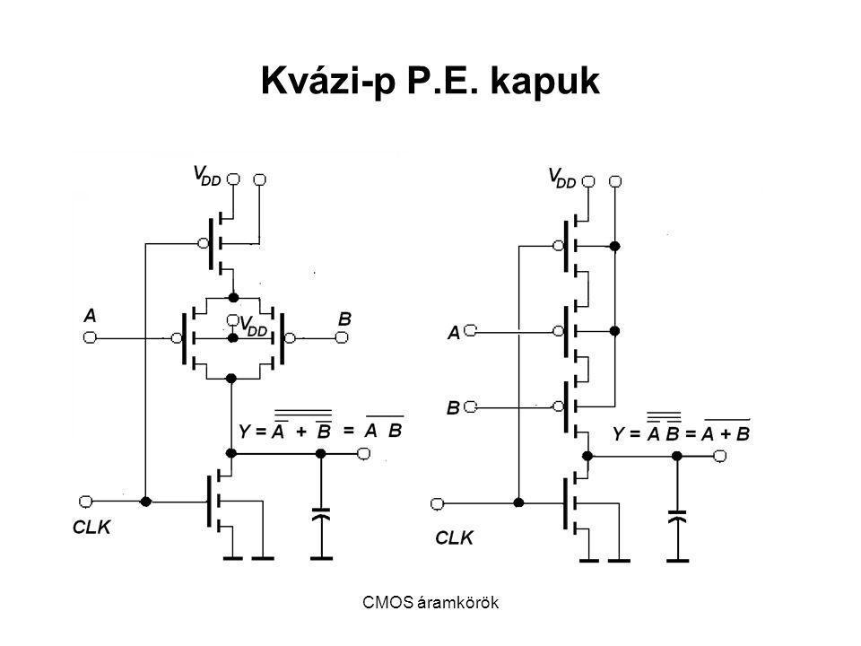 CMOS áramkörök Kvázi-p P.E. kapuk