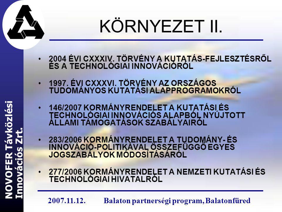 KÖRNYEZET II. 2004 ÉVI CXXXIV.