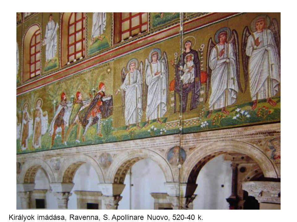 Királyok imádása, Ravenna, S. Apollinare Nuovo, 520-40 k.