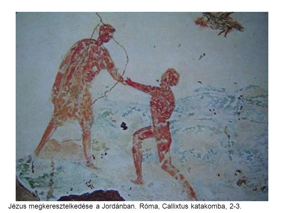 Jézus megkeresztelkedése a Jordánban. Róma, Callixtus katakomba, 2-3. sz.