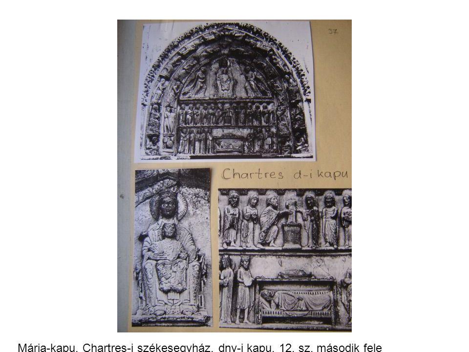 Mária-kapu, Chartres-i székesegyház, dny-i kapu, 12. sz. második fele
