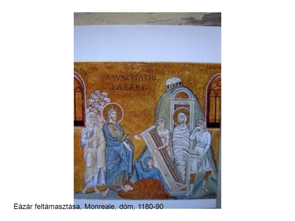 Éázár feltámasztása, Monreale, dóm, 1180-90