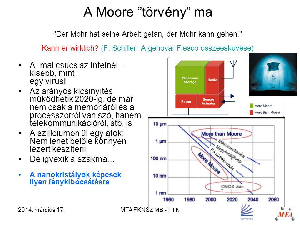 """2014. március 17.MTA FKNSZ MB - TTK A Moore """"törvény"""" ma"""