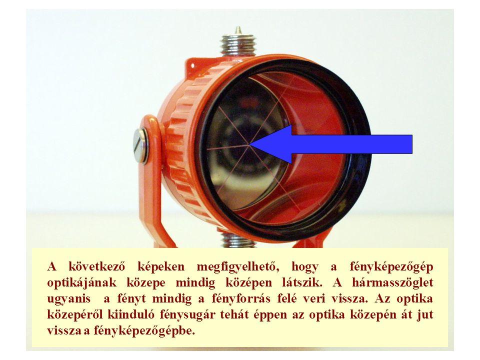 A következő képeken megfigyelhető, hogy a fényképezőgép optikájának közepe mindig középen látszik.