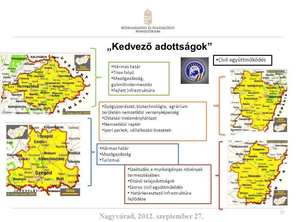 20 Hármas határ Mezőgazdaság Turizmus Hármas határ Tisza folyó Mezőgazdaság, gyümölcstermesztés Fejlett infrastruktúra Szaktudás a munkaigényes növény
