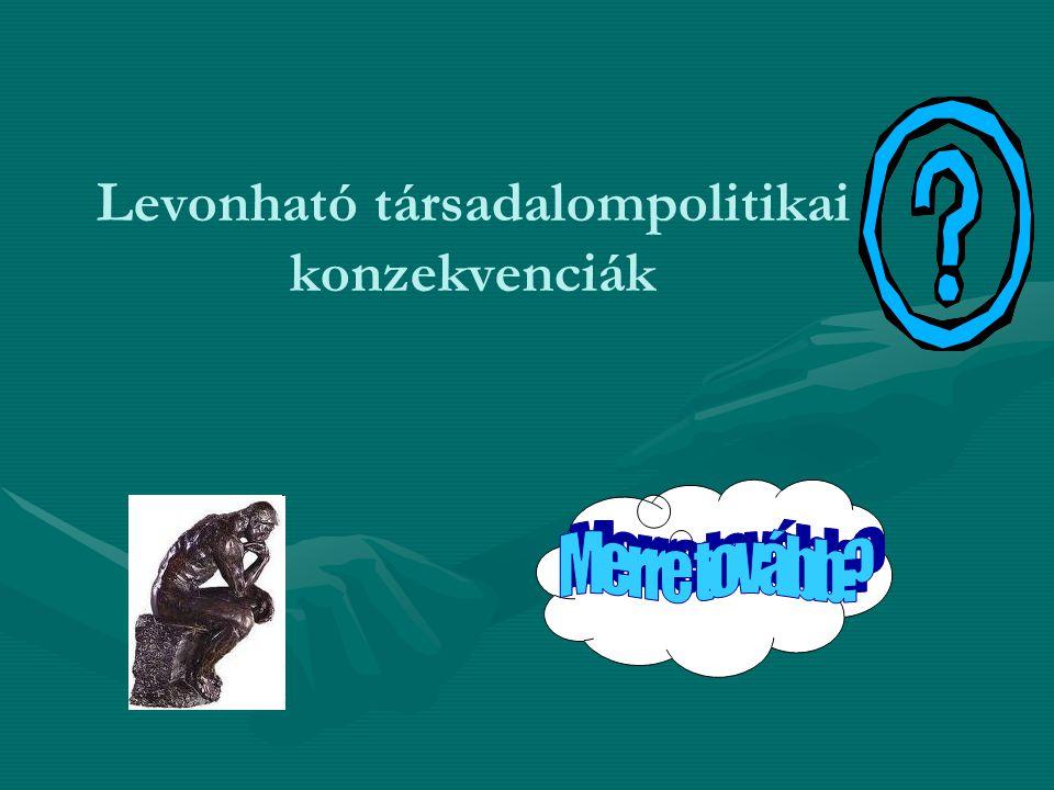 Levonható társadalompolitikai konzekvenciák