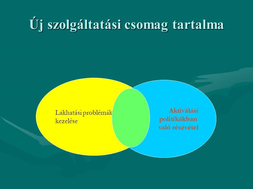 Új szolgáltatási csomag tartalma Lakhatási problémák kezelése Aktiválási politikákban való részvétel