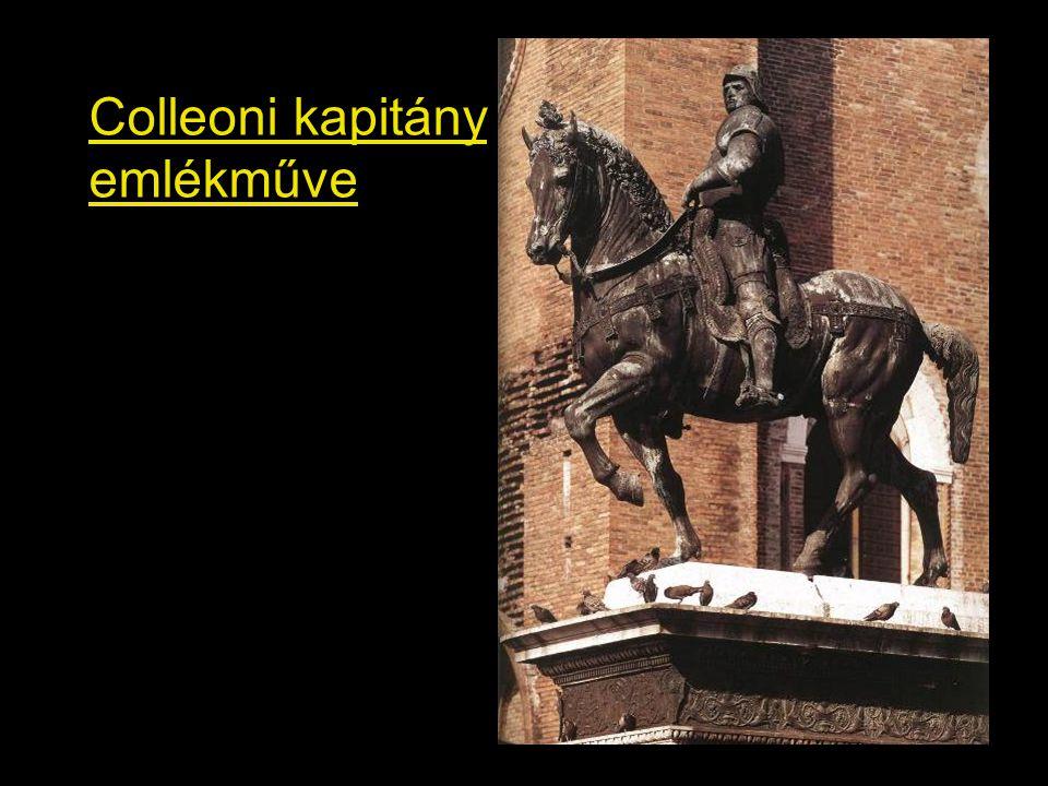 Colleoni kapitány emlékműve