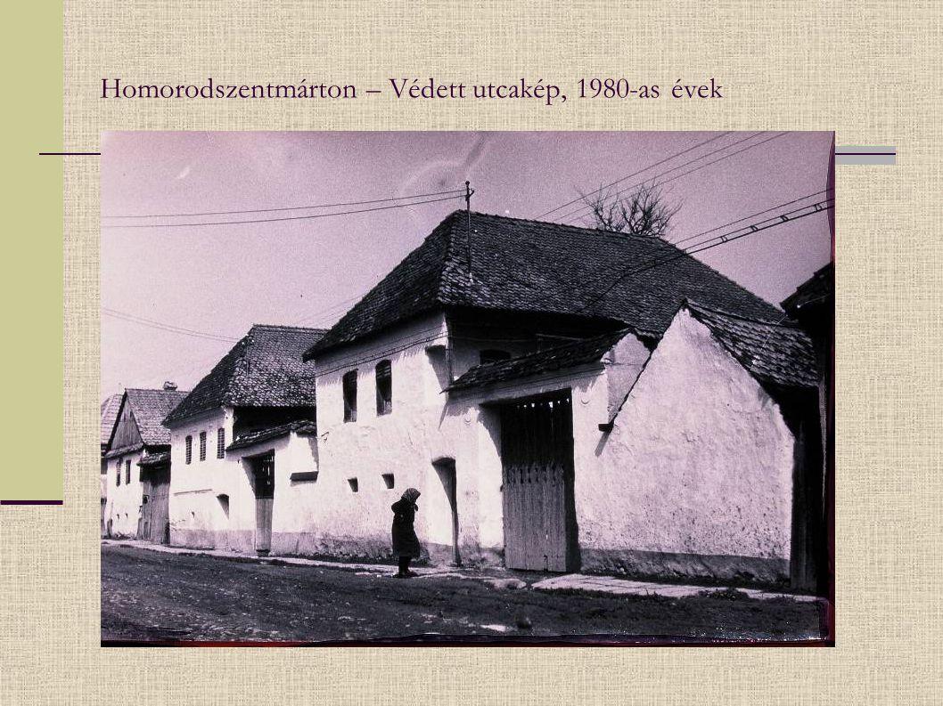 Homorodszentmárton – Védett utcakép, 1980-as évek