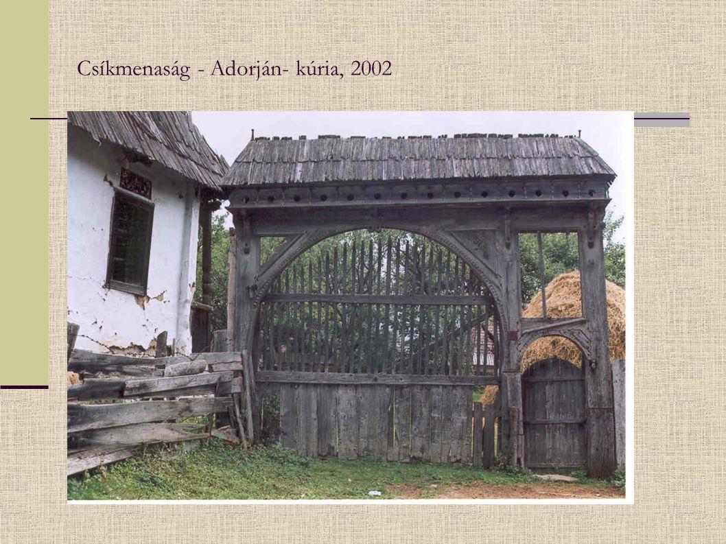 Csíkmenaság - Adorján- kúria, 2002