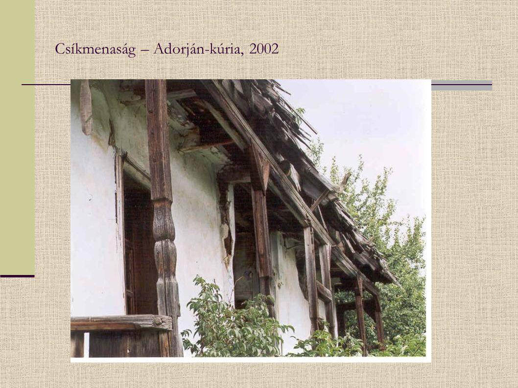 Csíkmenaság – Adorján-kúria, 2002