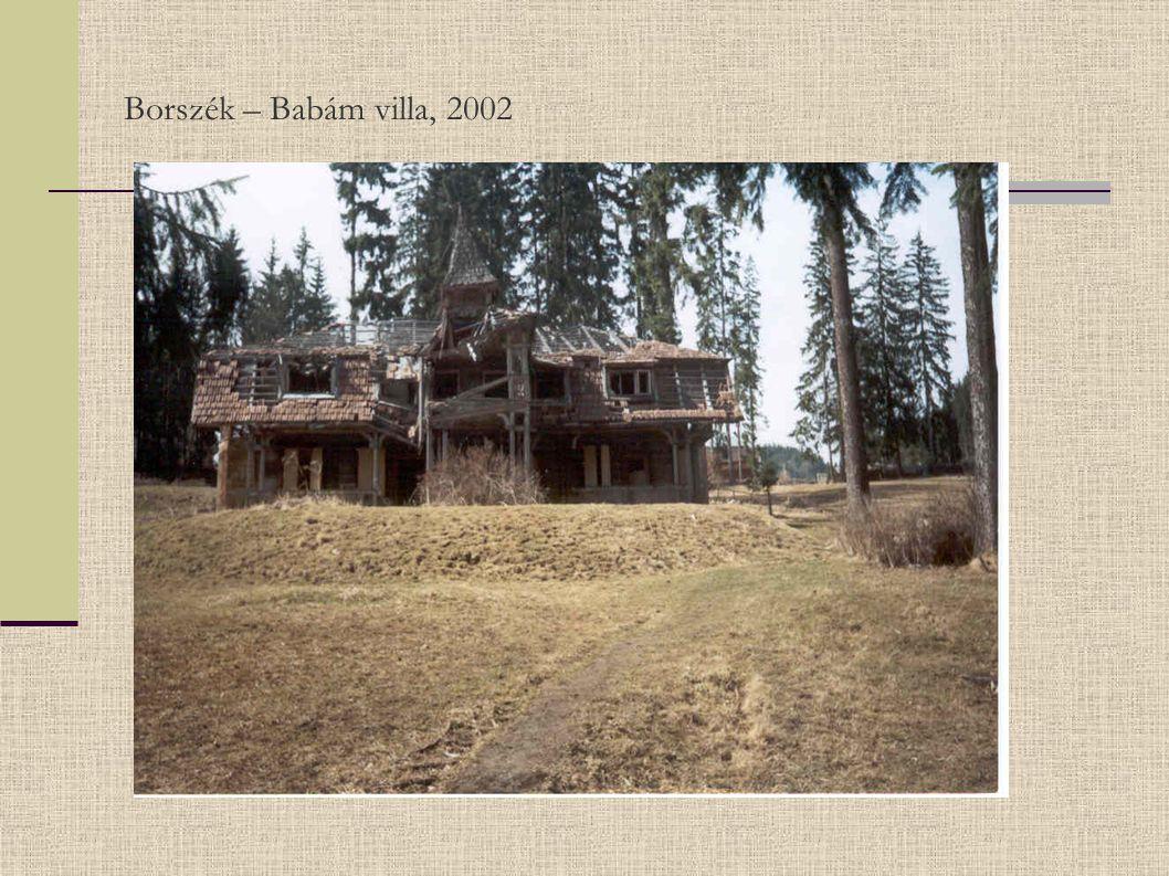 Borszék – Babám villa, 2002