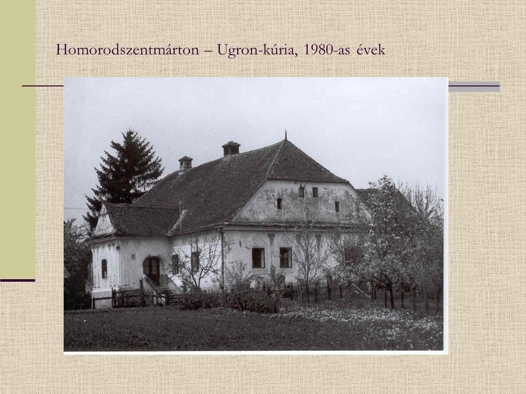 Homorodszentmárton – Ugron-kúria, 1980-as évek