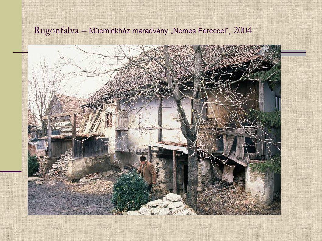 """Rugonfalva – Műemlékház maradvány """"Nemes Fereccel"""", 2004"""