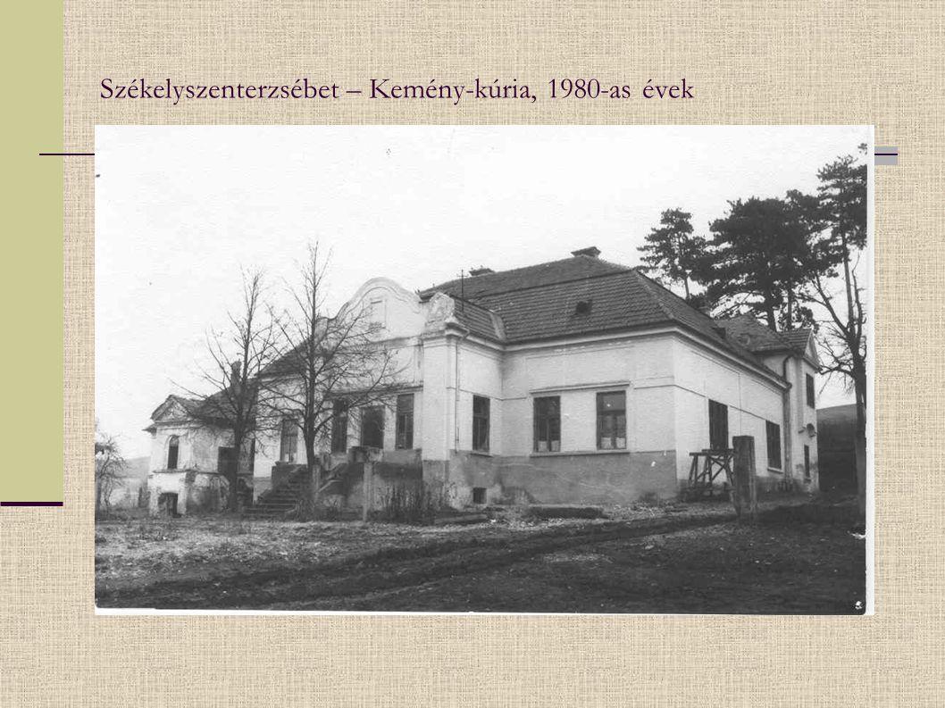 Székelyszenterzsébet – Kemény-kúria, 1980-as évek