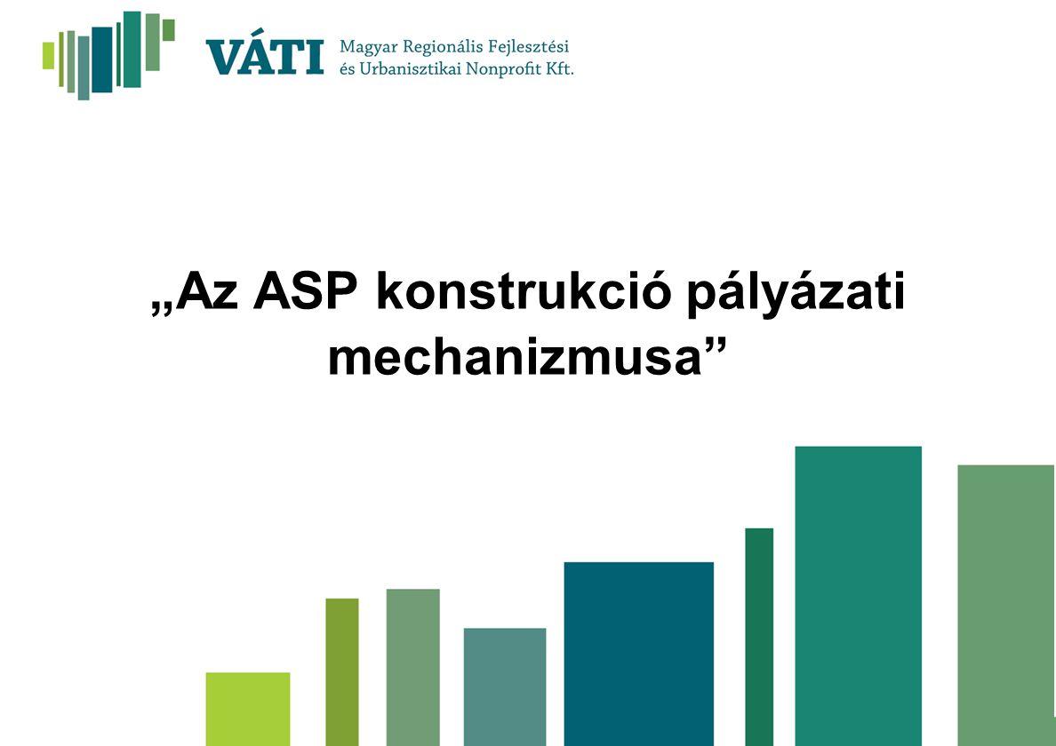 """""""Az ASP konstrukció pályázati mechanizmusa"""""""