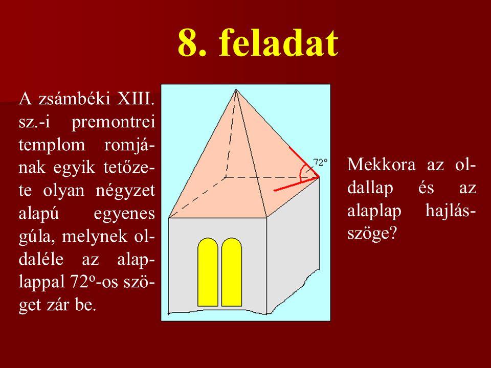 8.feladat A zsámbéki XIII.
