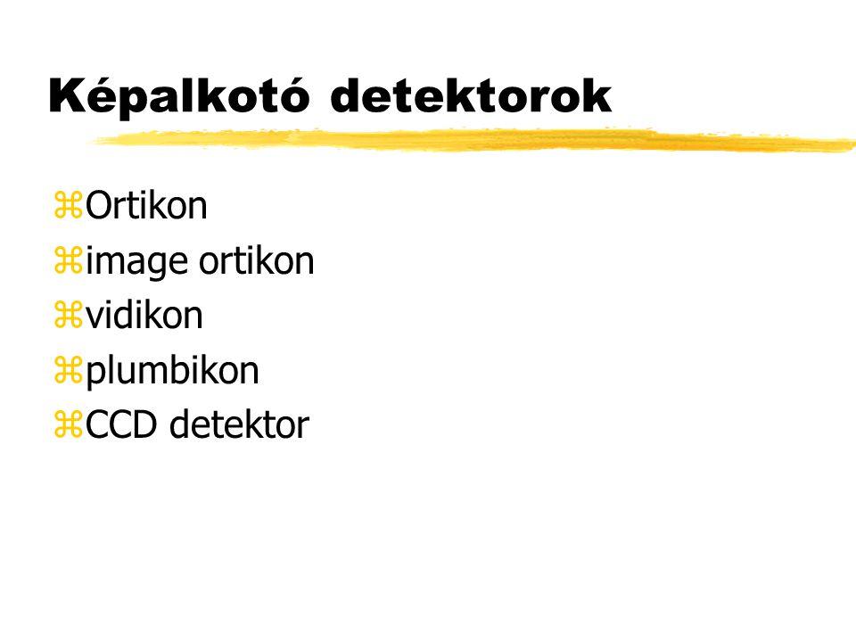 Képalkotó detektorok zOrtikon zimage ortikon zvidikon zplumbikon zCCD detektor