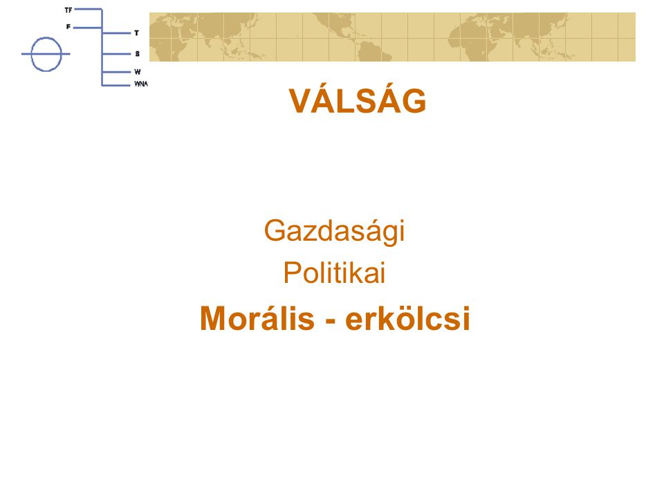 VÁLSÁG Gazdasági Politikai Morális - erkölcsi