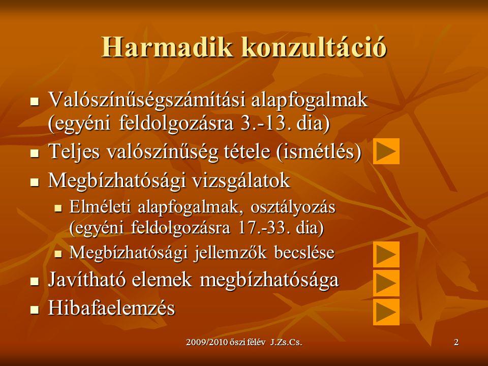 2009/2010 őszi félév J.Zs.Cs.33 Vizsgálati terv 3 5.