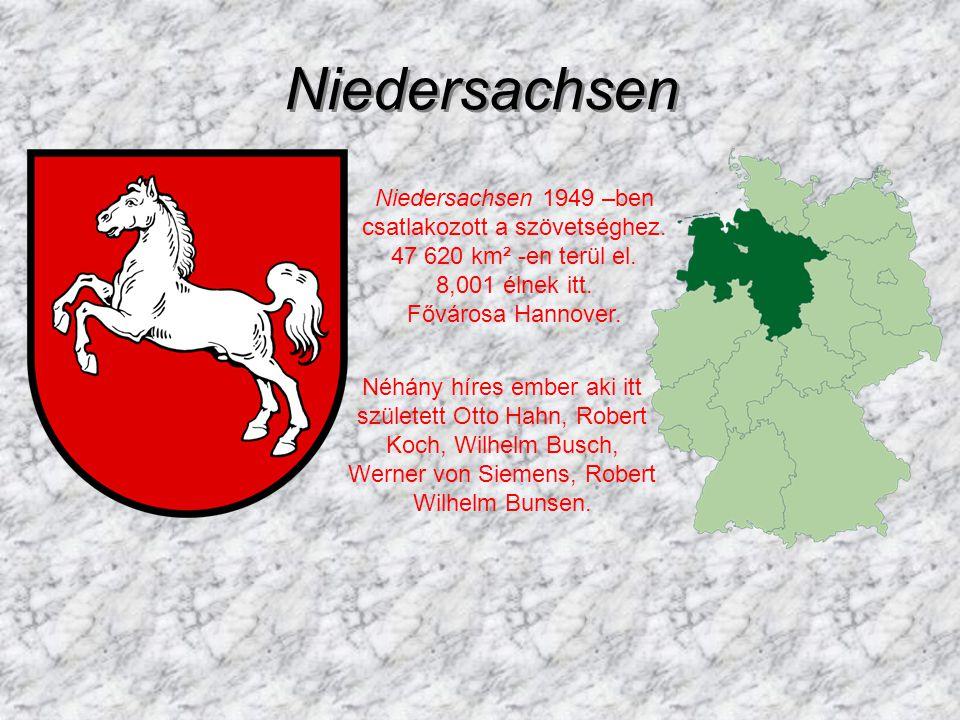 Niedersachsen Niedersachsen Niedersachsen 1949 –ben csatlakozott a szövetséghez.