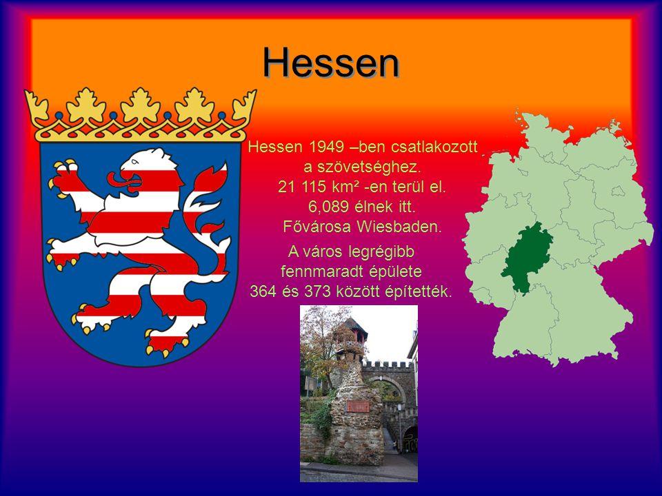 Hessen Hessen Hessen 1949 –ben csatlakozott a szövetséghez.