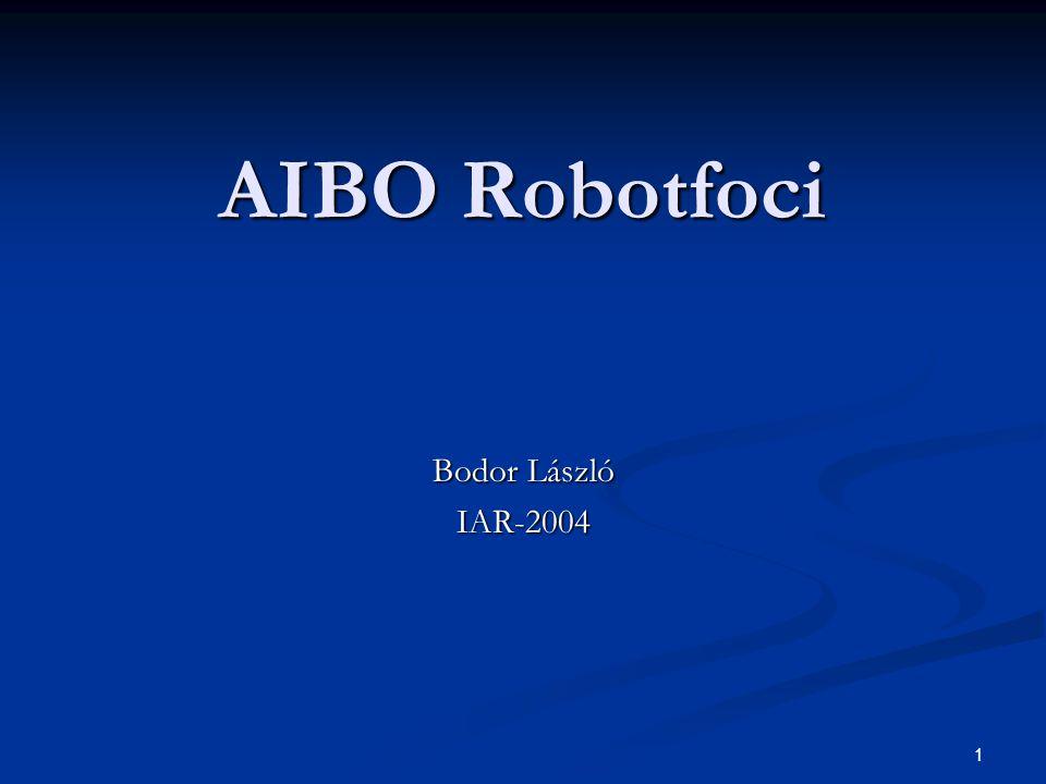 1 AIBO Robotfoci Bodor László IAR-2004