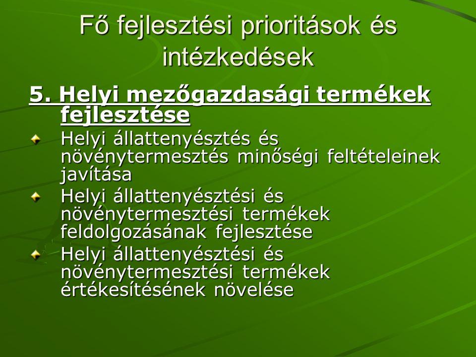 Fő fejlesztési prioritások és intézkedések 5.