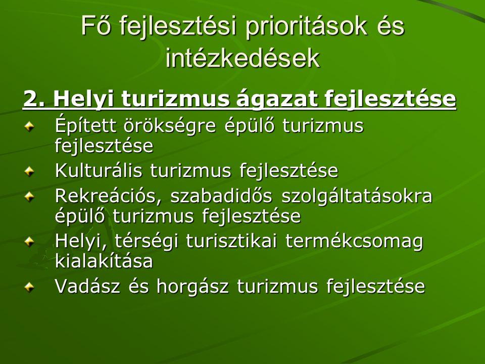 Fő fejlesztési prioritások és intézkedések 2.