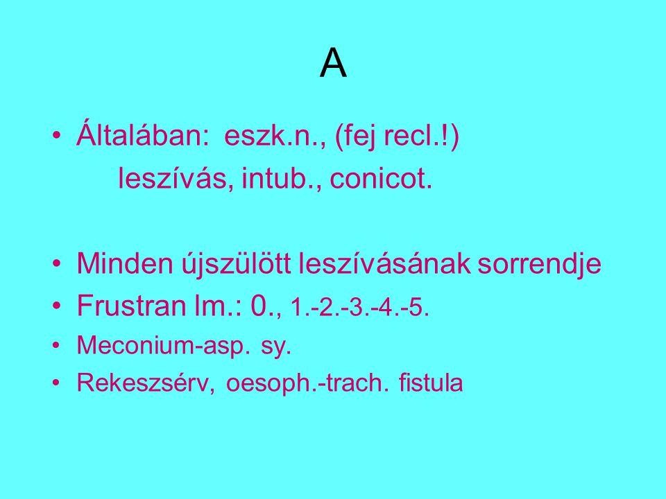 A SAV-BÁZIS-(H + -)HÁZTARTÁS ZAVARAI Respiratiós acidosis minden LE.
