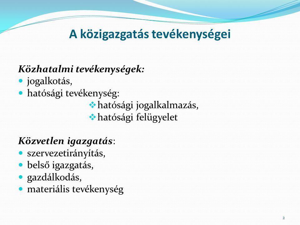 Az államháztartási kontrollok rendszere Cél: az államháztartás pénzeszközeivel és a nemzeti vagyonnal történő szabályszerű, gazdaságos, hatékony és eredményes gazdálkodás Területei: külső (törvényhozói) ellenőrzés (Állami Számvevőszék) kormányzati szintű ellenőrzés (KEHI, európai támogatásokat ellenőrző szerv, MÁK) az államháztartás belső kontrollrendszere 13