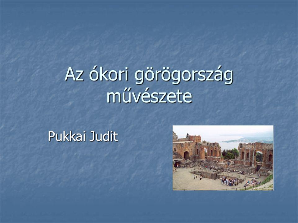 Az ókori görögország művészete Pukkai Judit