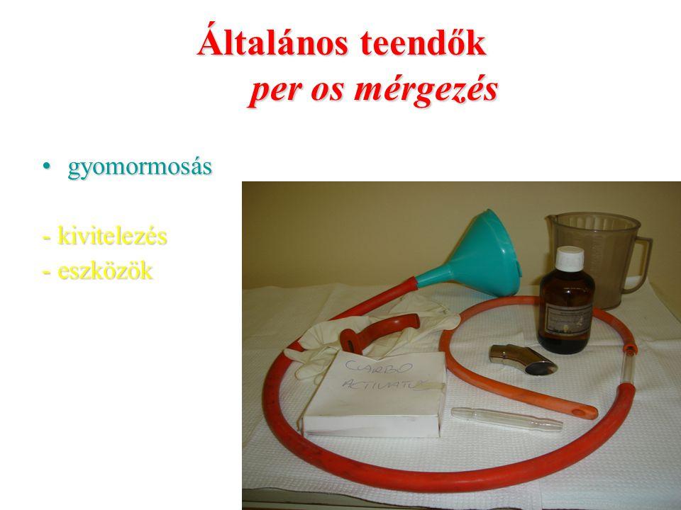 Általános teendők per os mérgezés gyomormosásgyomormosás - kivitelezés - eszközök