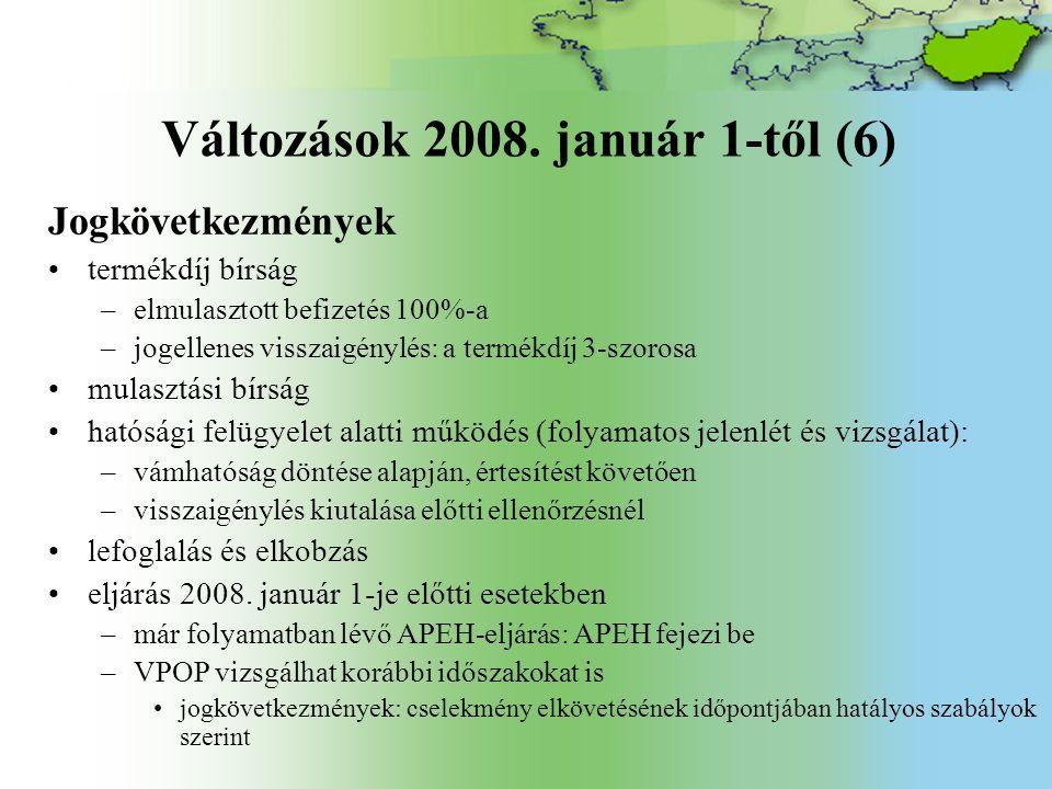 Változások 2008.