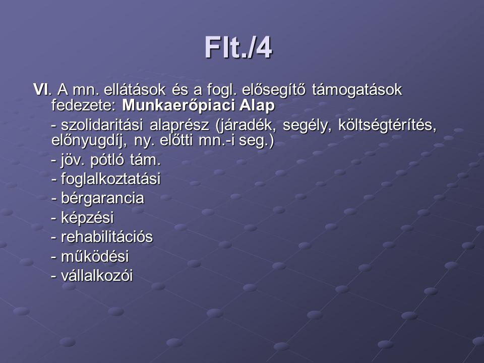 Flt./4 VI.A mn. ellátások és a fogl.