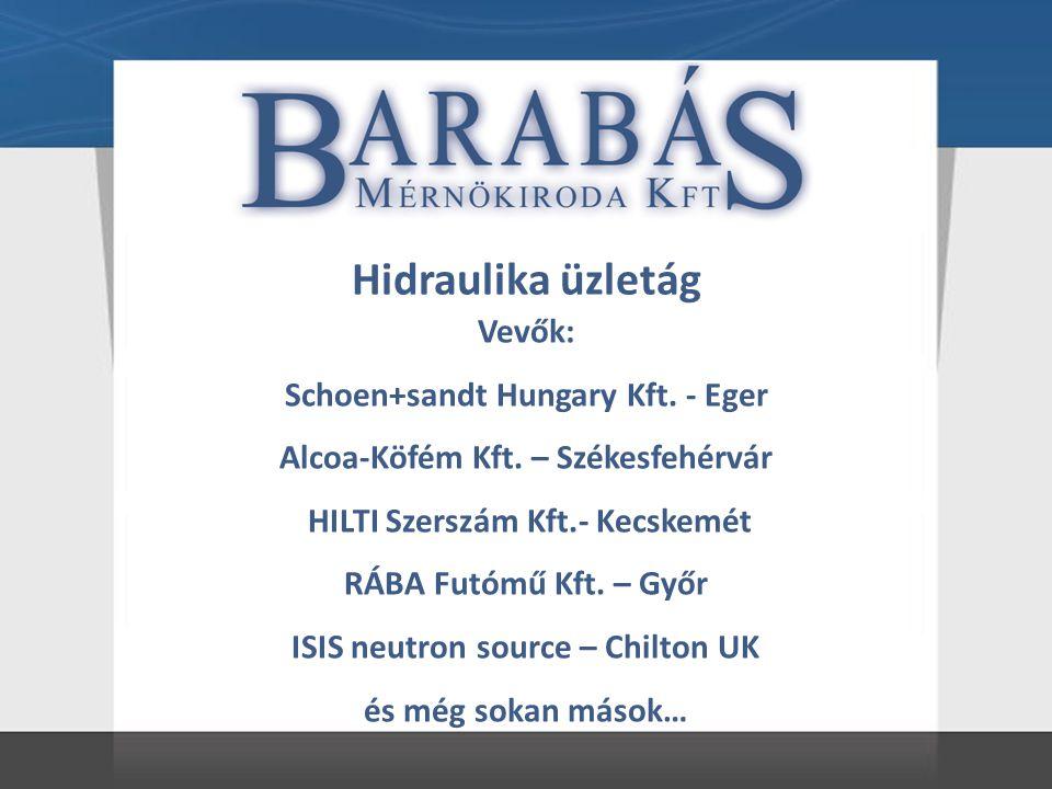 Hidraulika üzletág Vevők: Schoen+sandt Hungary Kft.