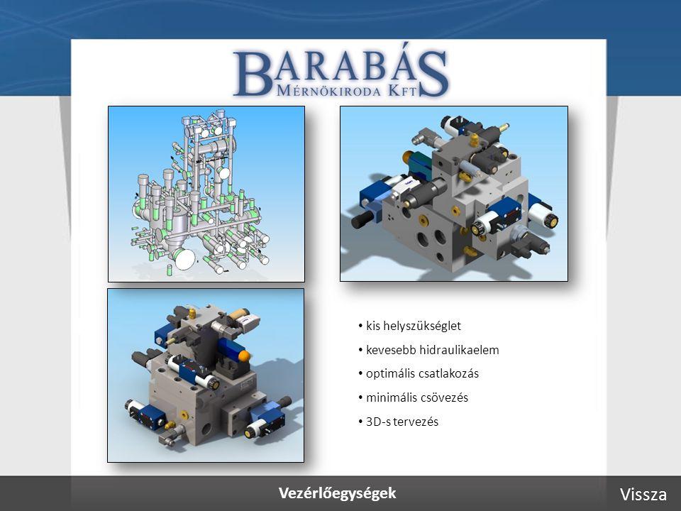 Vezérlőegységek kis helyszükséglet kevesebb hidraulikaelem optimális csatlakozás minimális csövezés 3D-s tervezés Vissza