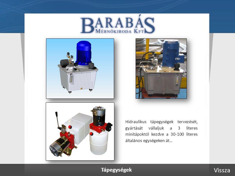 Tápegységek Vissza Hidraulikus tápegységek tervezését, gyártását vállaljuk a 3 literes minitápoktól kezdve a 30-100 literes általános egységeken át…